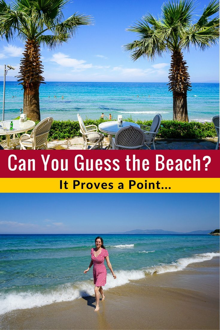 Can you guess where in the world this beach is? It proves a point.