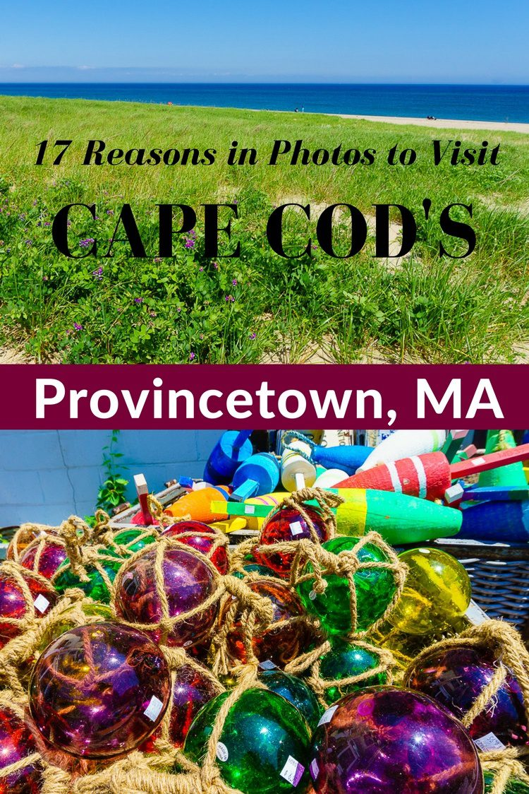 Travel tips on the Cape Cod town of Provincetown, MA: Beaches, P-Town fun, color and culture, great food, and lots of things to do. Easy fast ferry from Boston! #CapeCod #Provincetown #Ptown #Massachusetts #vacation #beaches