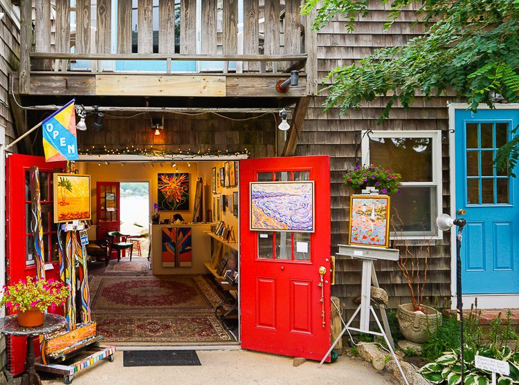 One of many art galleries and stores in Rockport.