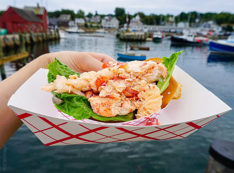 The famous lobster roll at the Roy Moore Lobster Co.