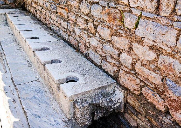 The public toilets of Ephesus were ahead of their time!