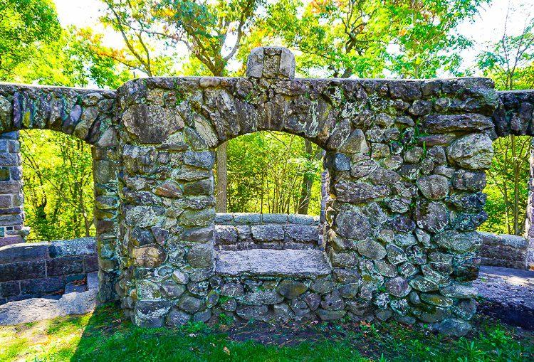 Beautiful ruins dot the park.