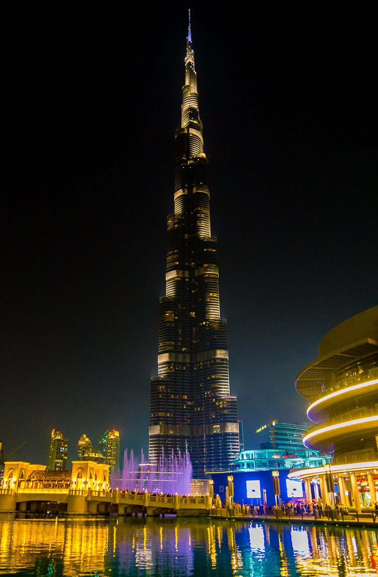The Burj Khalifa towers above the world.