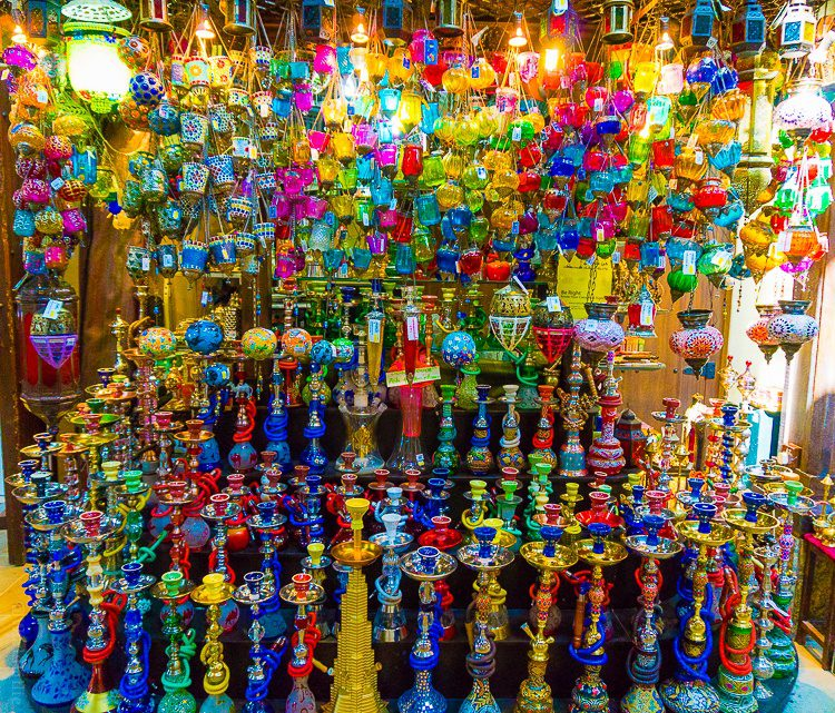 A colorful kiosk in the Souk Madinat