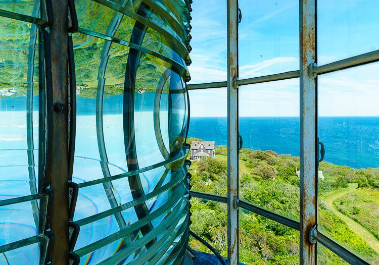 Block Island Southeast Light has a great view from one of the best Rhode Island Lighthouses