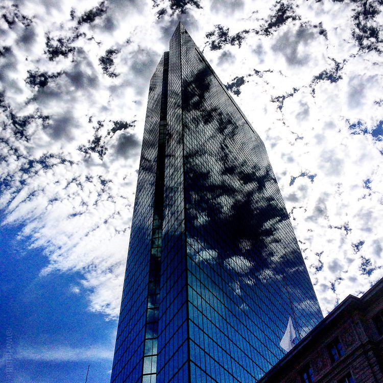 My favorite photo I took this year: Boston's Hancock building with epic clouds.
