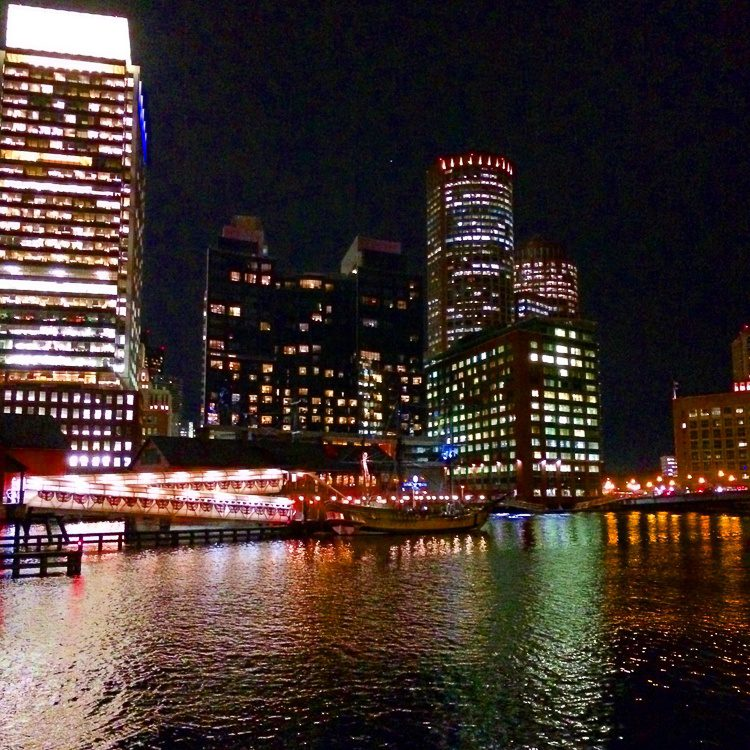 Fort Point Channel, Boston, during one of my night walks.