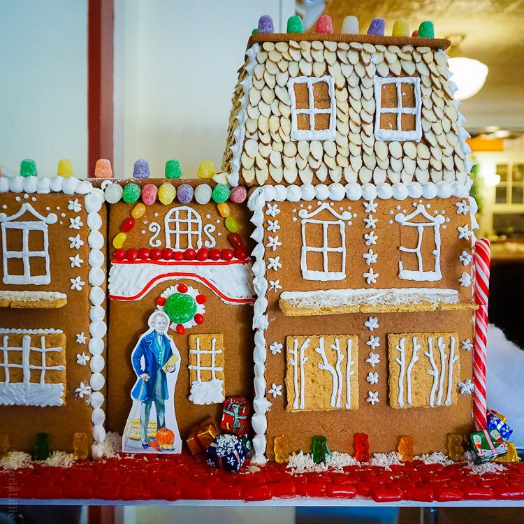A Graham Cracker gingerbread house to honor the cracker's creator!