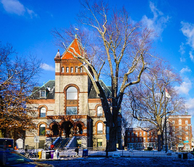 Even the municipal buildings are charming. This is the Hampshire County Courthouse.
