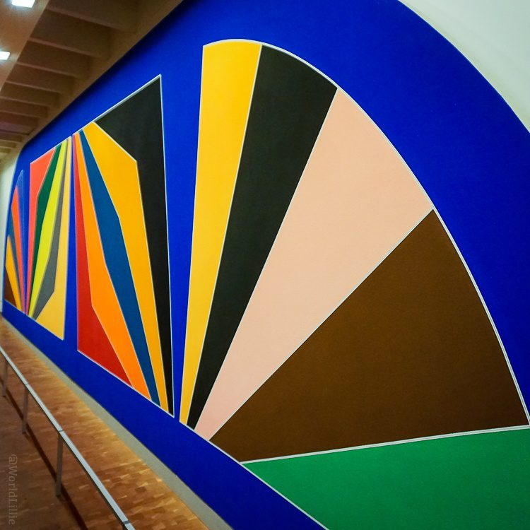 """A burst of color in """"Damascus Gate"""" by Frank Stella, 1936."""