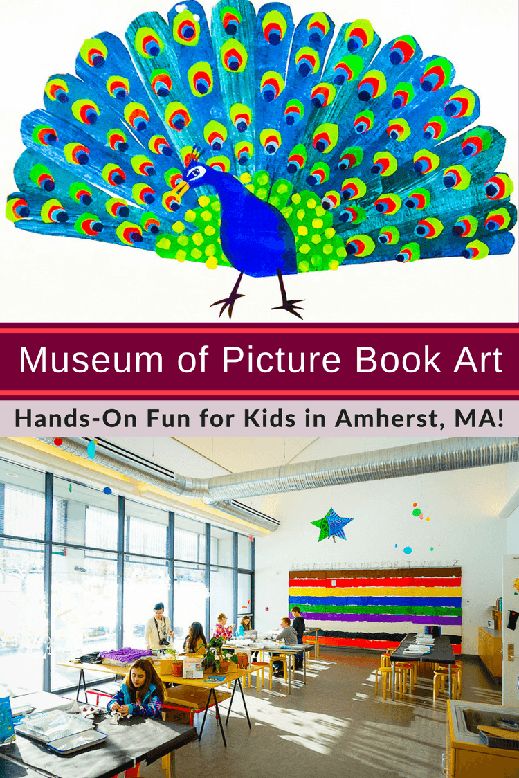 2 Great Places Near Amherst, MA to Visit With Kids: The Eric Carle Museum of Picture Book Art, and Atkins Farms.