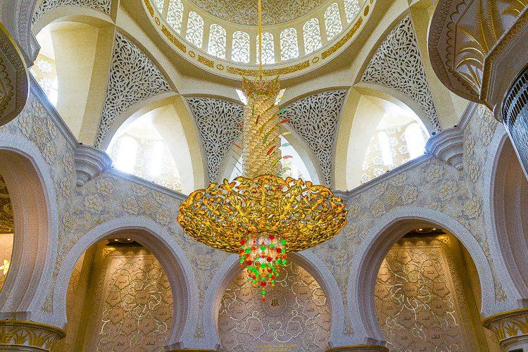 Chandelier Sheikh Zayed Mosque Abu Dhabi