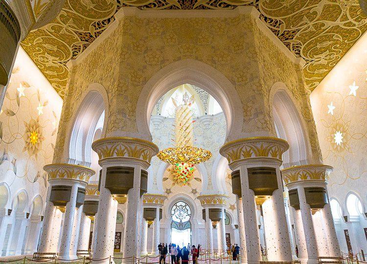 Inside Sheikh Zayed Mosque Abu Dhabi, UAE