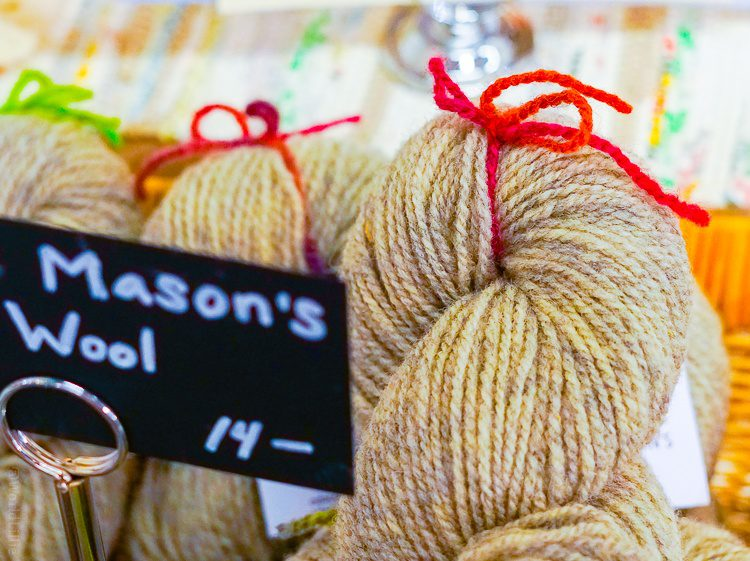 Soft natural yarn from nearby.