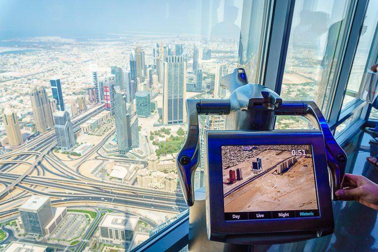 Tallest building in the world Burj Khalifa view of Dubai