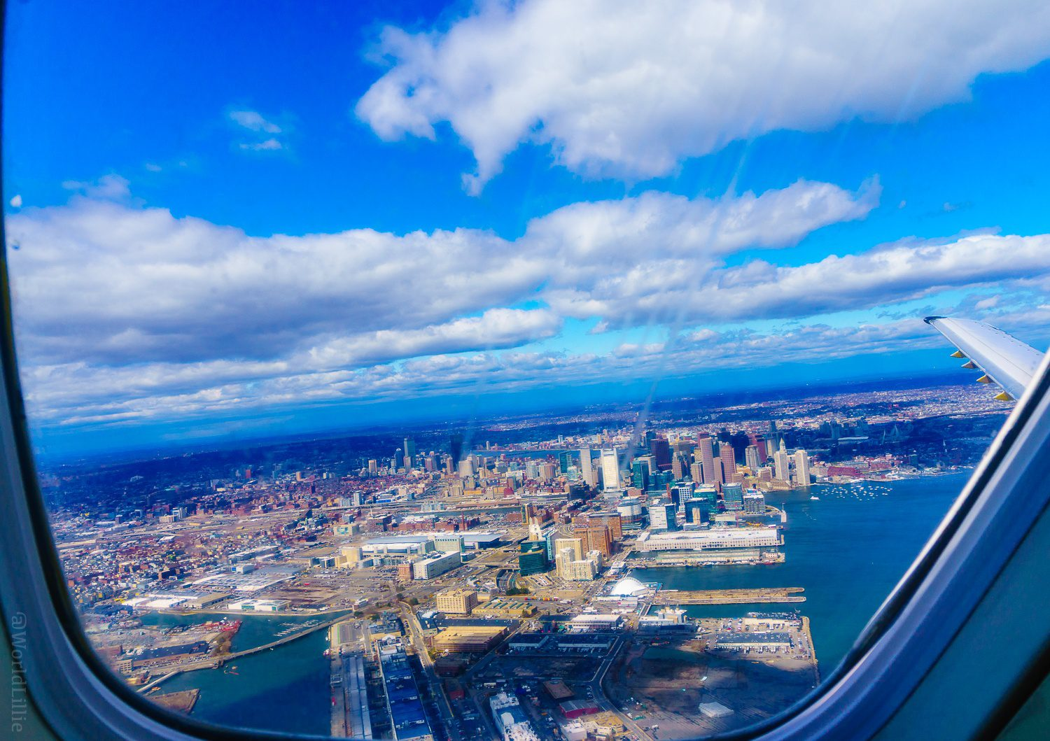 Boston, you look lovely from on Earth as well as above!