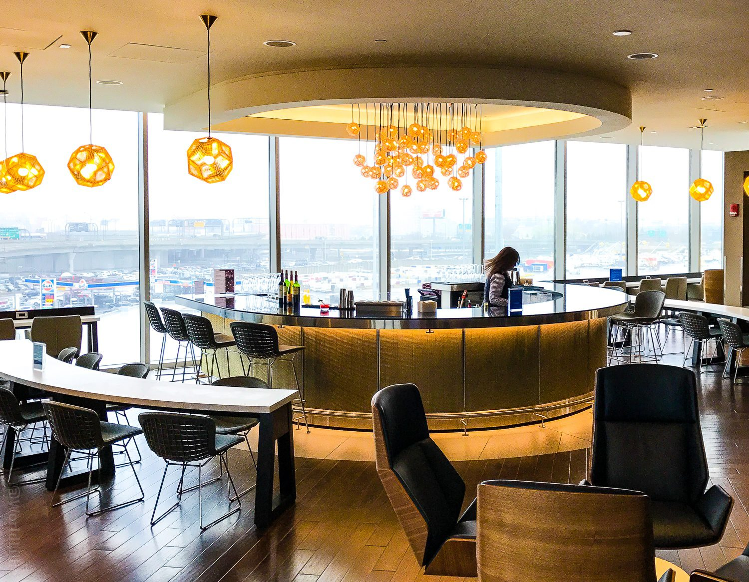 The centerpiece of the new British Airways lounge.