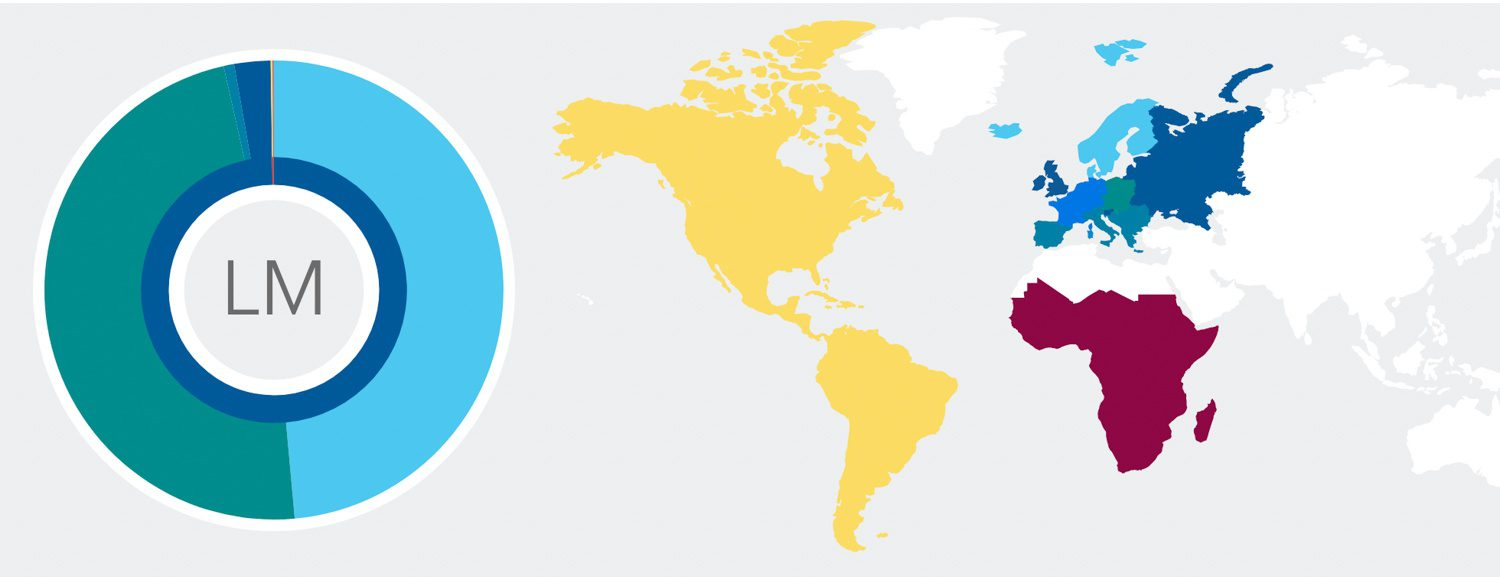 I have DNA from all these geographical places in me! But mostly two regions...