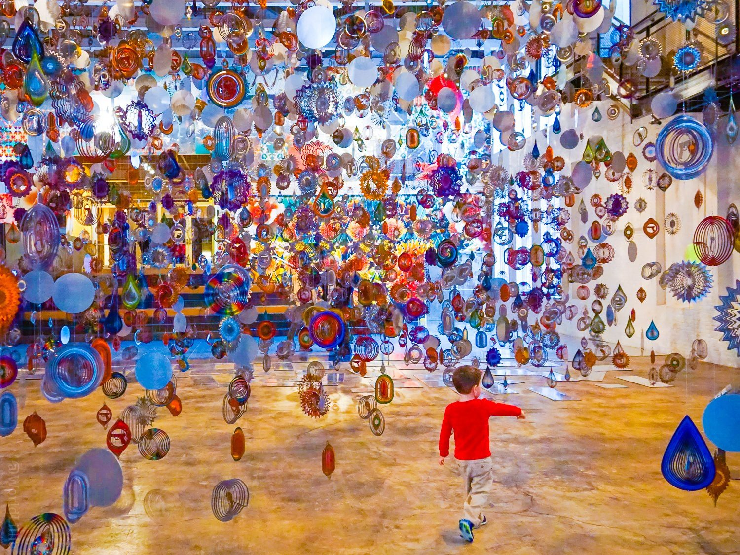 The art at MASS MoCA is great for the whole family!