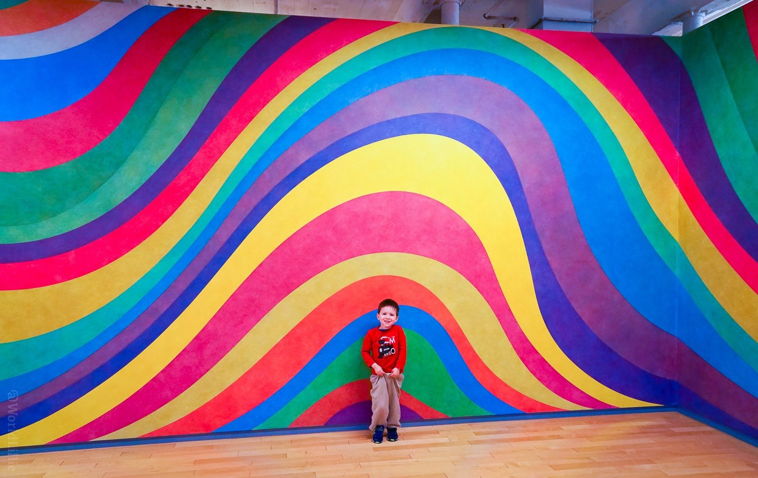 The Sol LeWitt exhibit is a star of the museum.