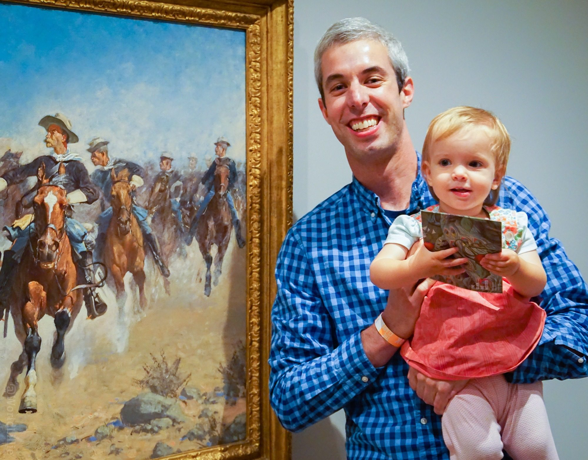 "Dave and Jojo with Remington's ""Dismounted."""