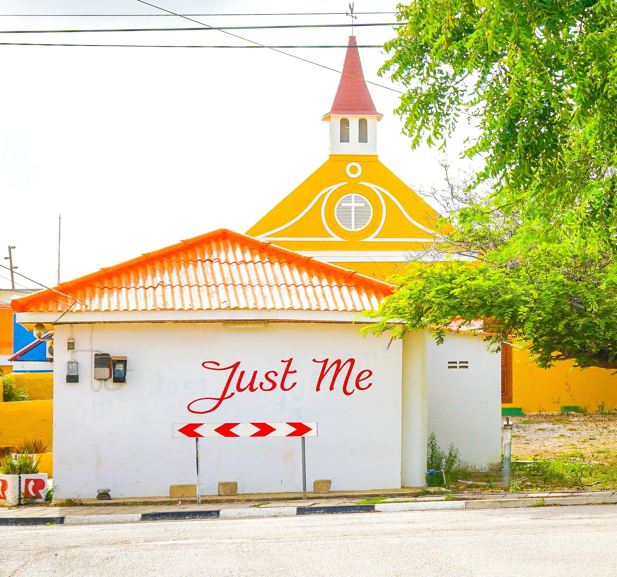 """Love this sign near Rincon, Bonaire: """"Just Me!"""""""