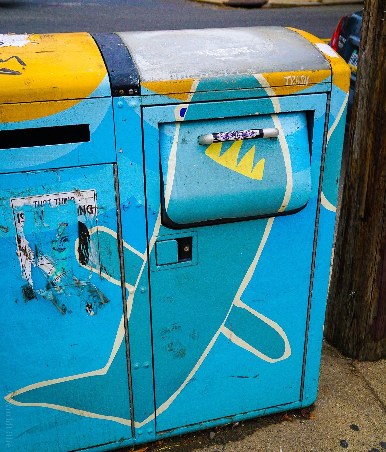Shark trash bin!
