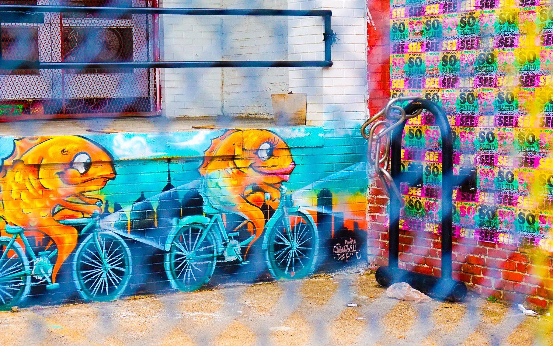 Even the fish ride bikes in Fishtown!