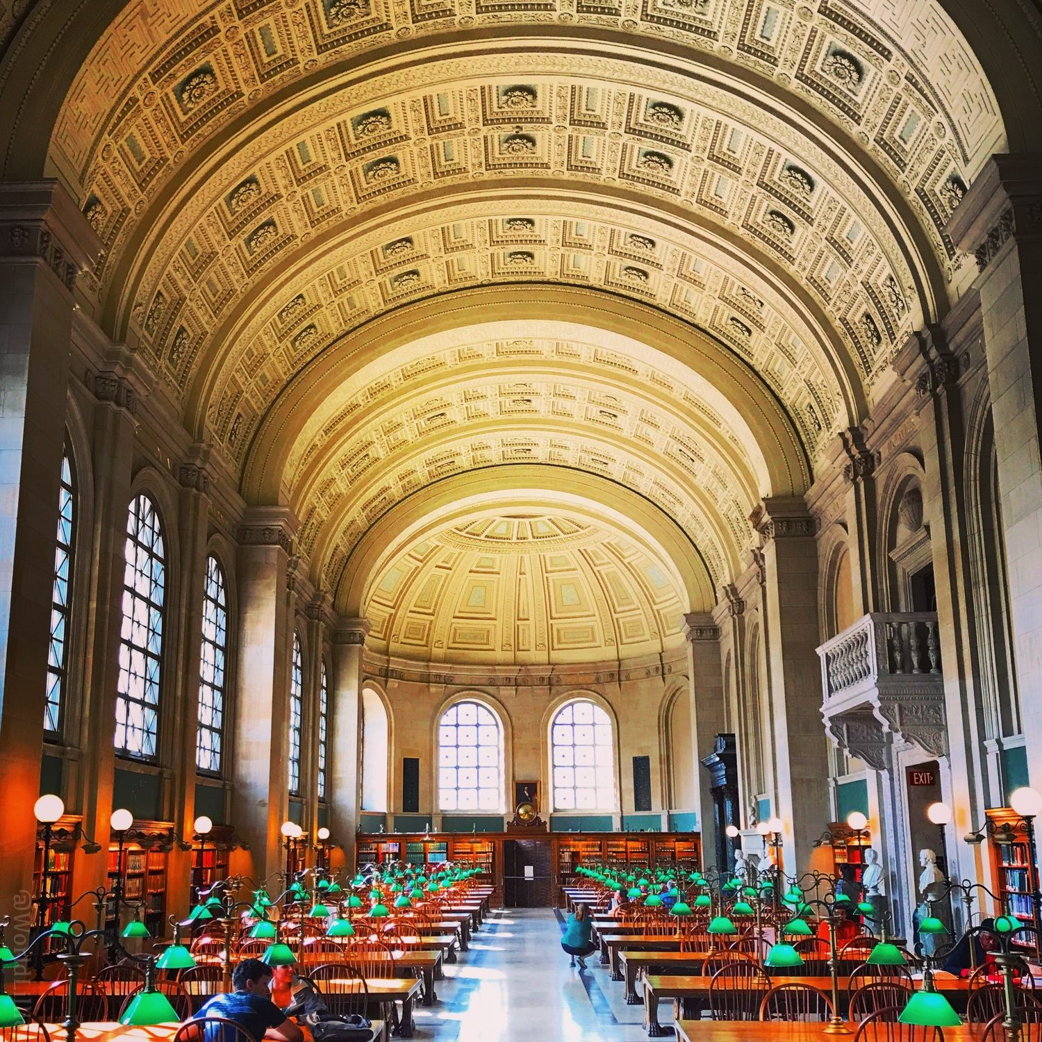 The beautiful Boston Public Library, not far from our school.