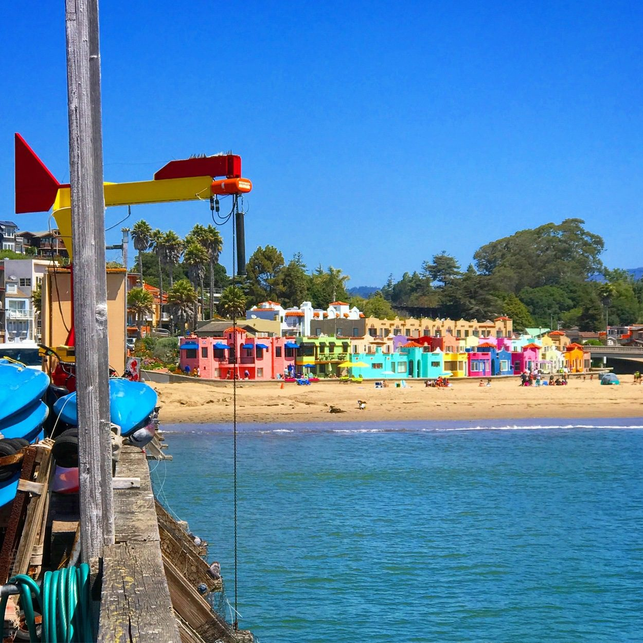 Bright colors of Capitola, California this July.
