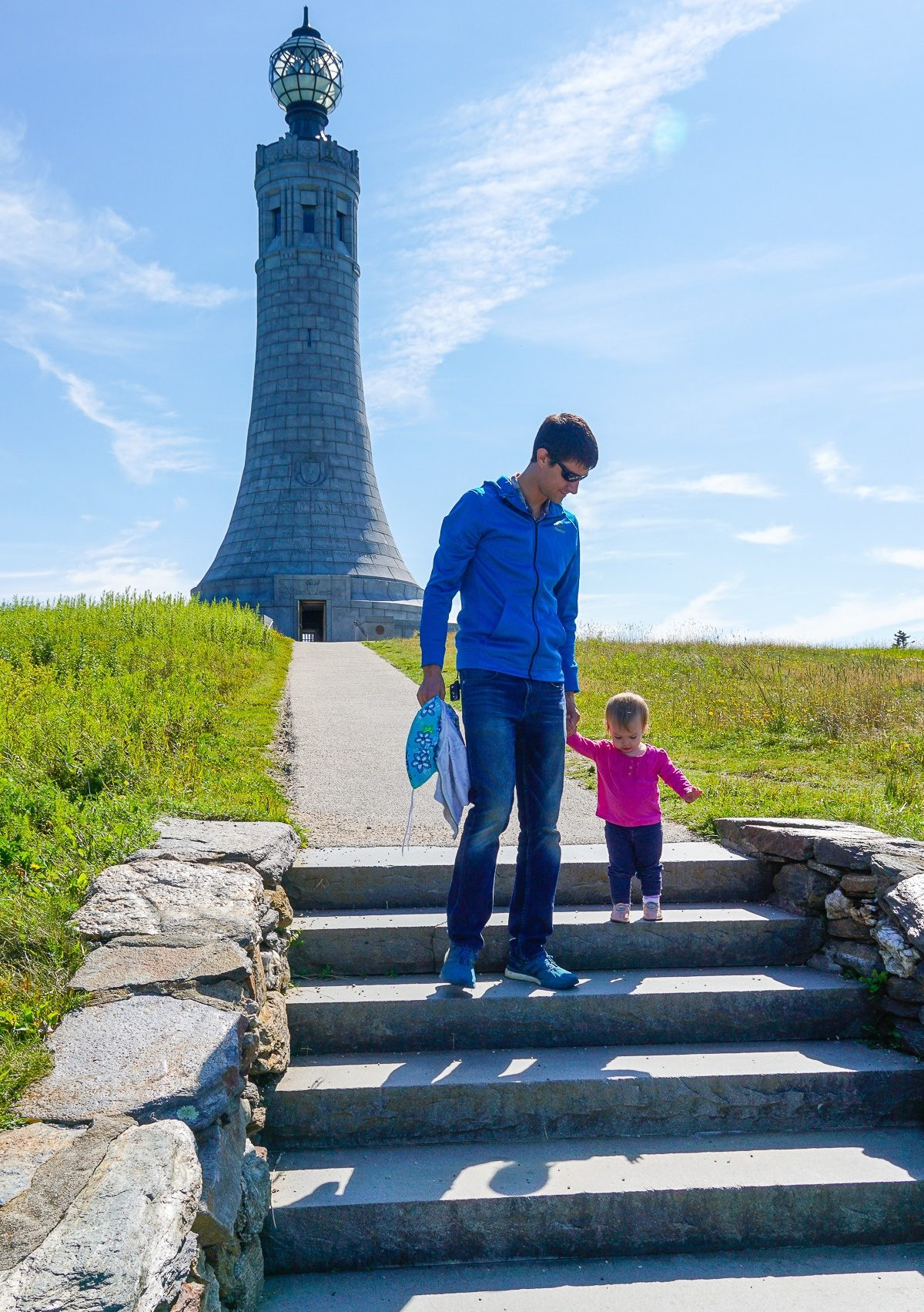 Planning travel to Mount Greylock, the highest point in Massachusetts? Here's the easiest way up the mountain to see great New England views, even with young kids. Pictured: the Veterans War Memorial Tower.