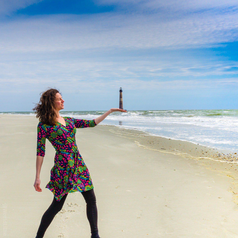 Folly Beach: Morris Island Lighthouse