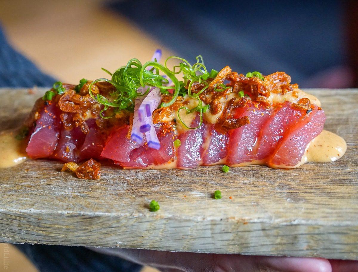 Portland Maine food: Tuna crudo at Central Provisions