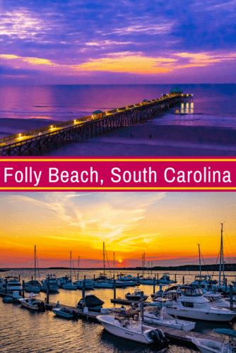 Folly Beach SC near Charleston, South Carolina