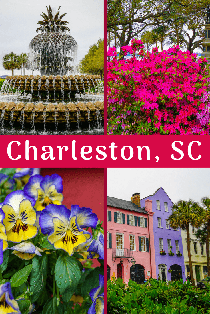 Charleston, SC was voted one of the best cities in the U.S. and in the world to travel to, as you can see from these beautiful photos of my South Carolina visit, full of flowers and great architecture! #Travel #CharlestonSC #Flowers #Architecture