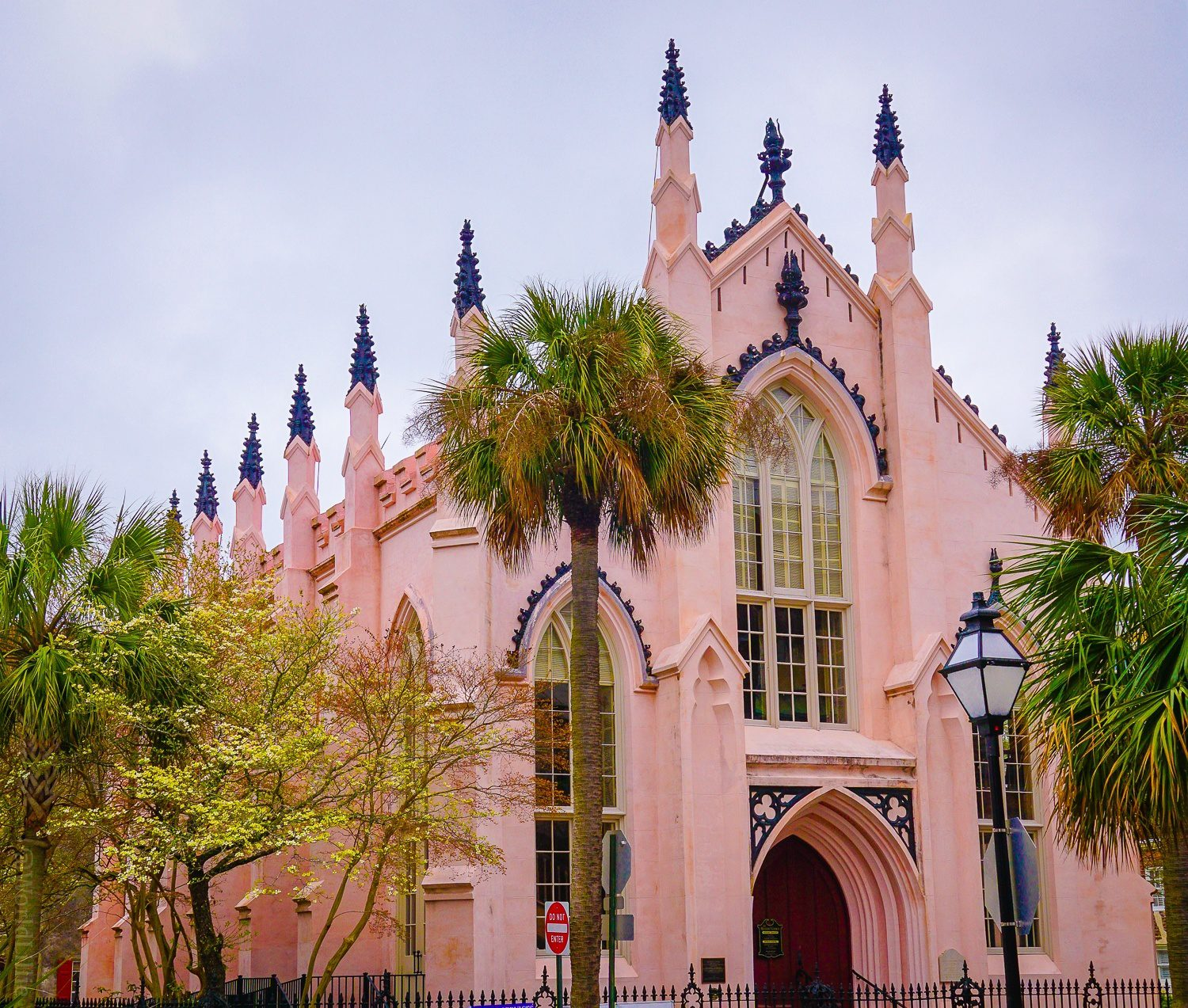 The spiky pink French Huguenot Church!