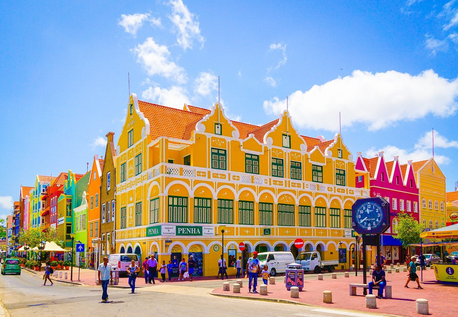The famous Penha building in Willemstad.
