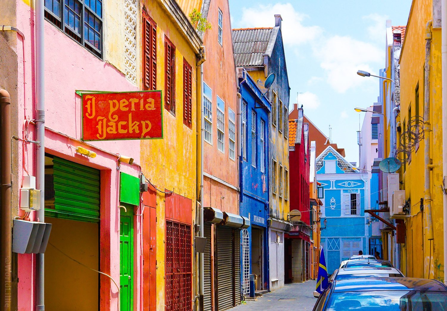 Willemstad, Curaçao is a glorious rainbow of color.