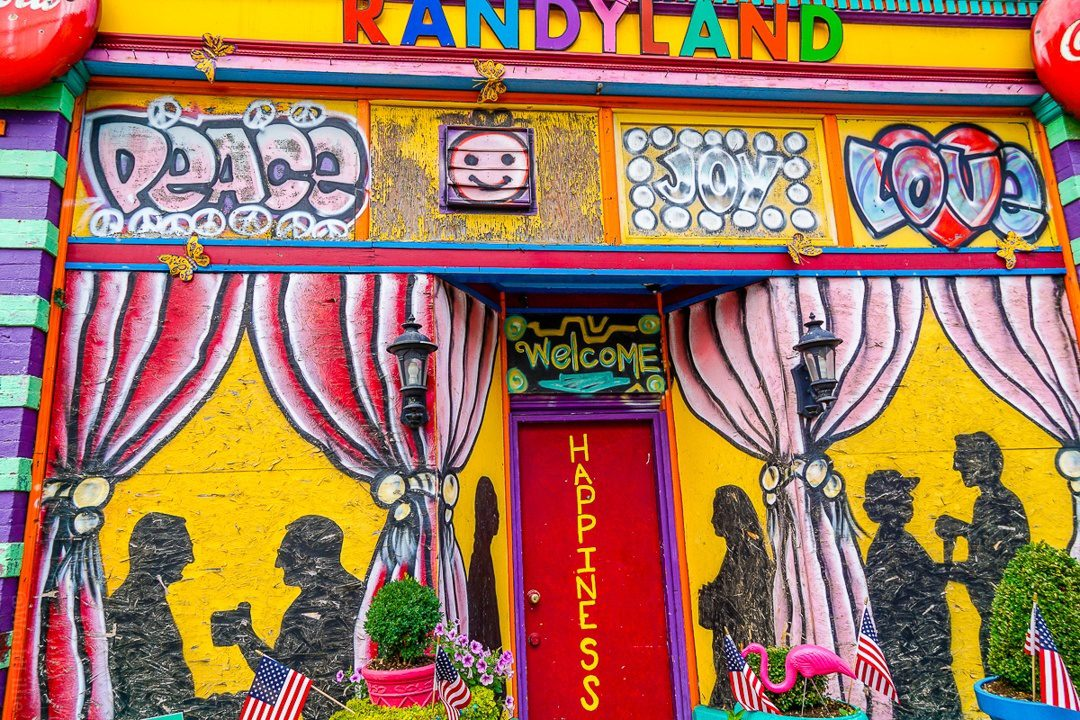 The door to Happiness is at Randyland.