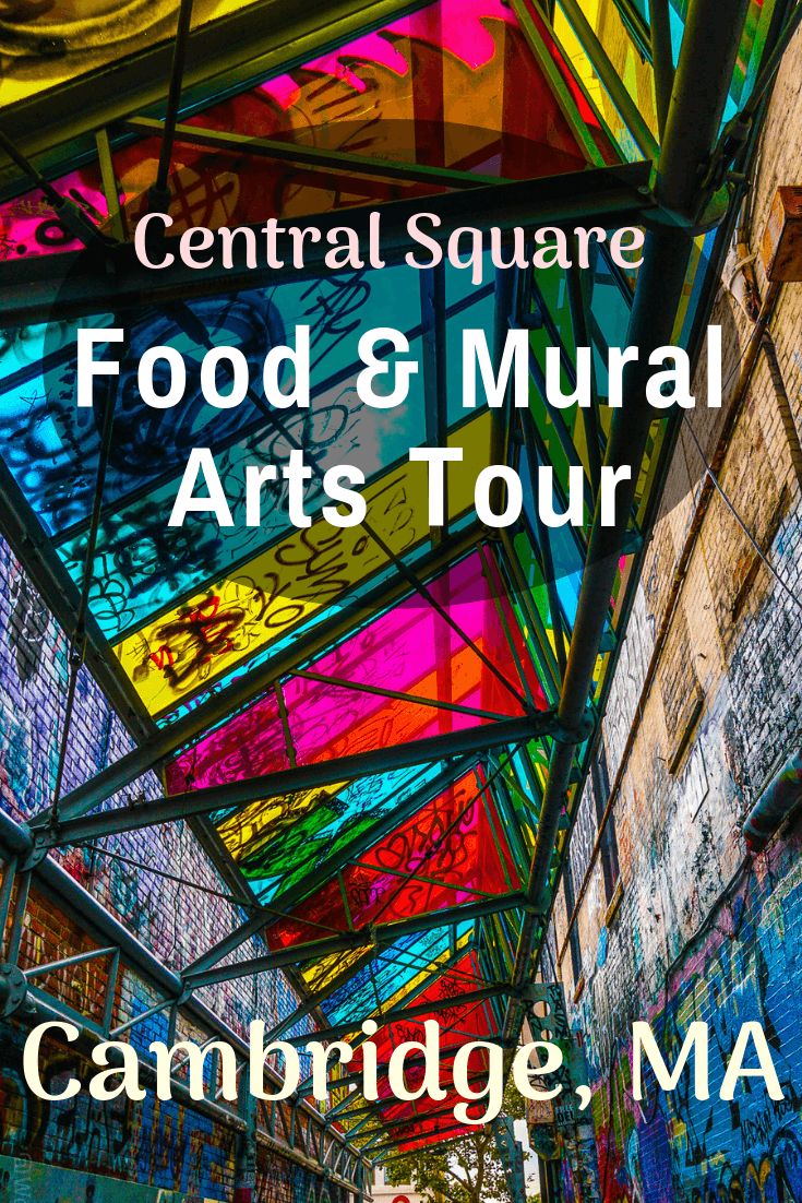 Central Square in Cambridge, MA has some of the best mural arts and local food in the Boston area, including Graffiti Alley! See tips from a tour that focuses on unique small businesses!