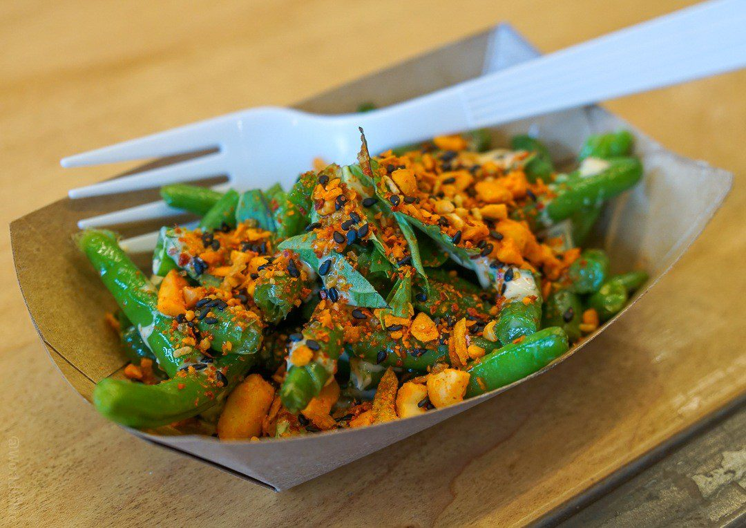 Green beans and peanuts at Whole Heart Provisions.