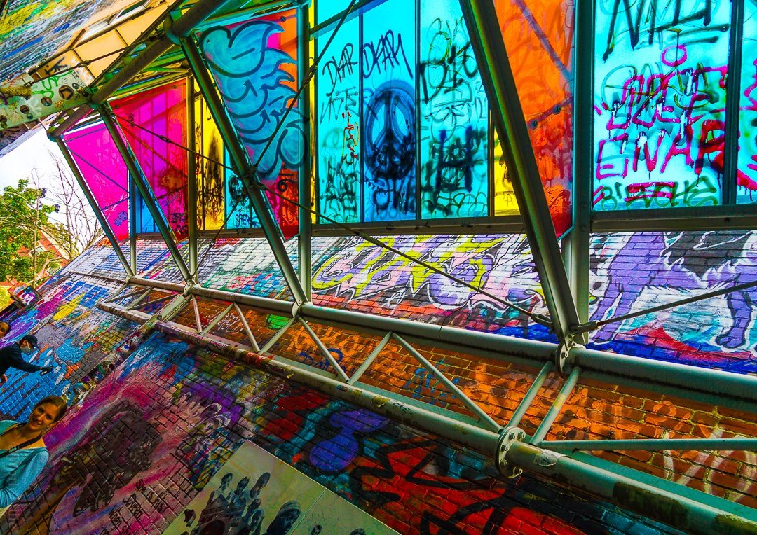 The roof of Graffiti Alley is as awesome as the walls.