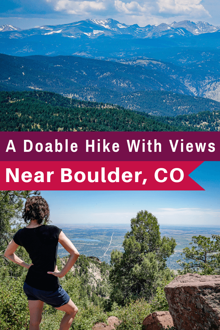 Want a good, moderate hike with views near Boulder, CO? Green Mountain West Ridge Trail can be done in 2 hours and has great Rocky Mountain views and shade!
