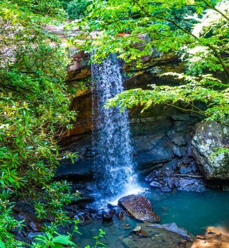 Cucumber Falls in Ohiopyle State Park.