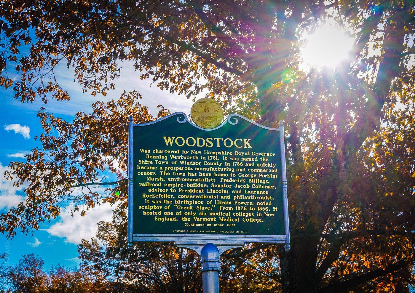 Woodstock, Vermont is historic!
