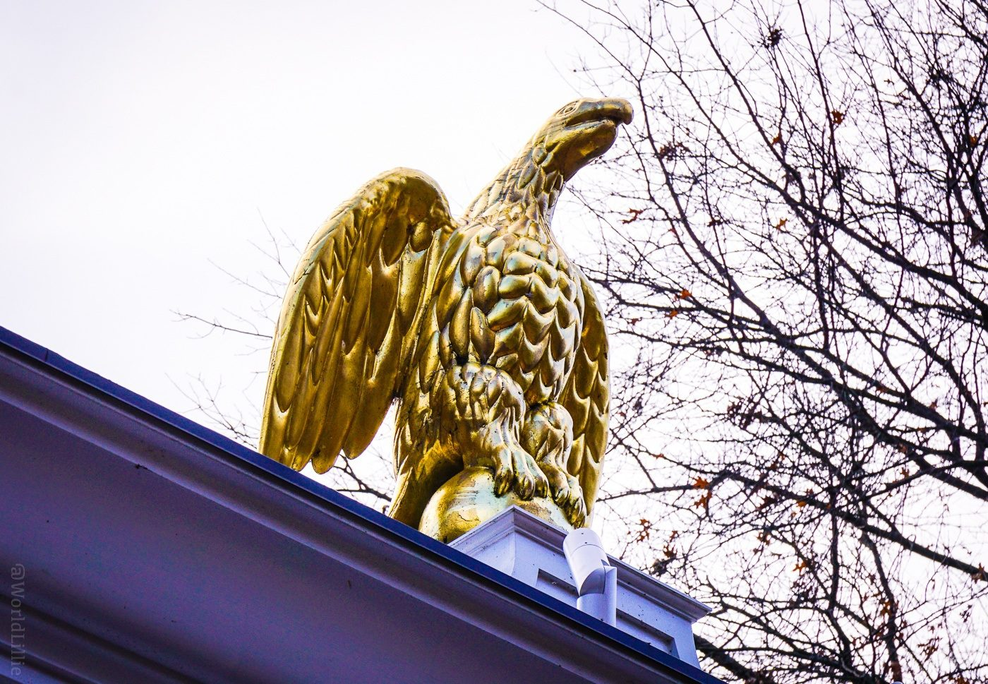 The eagle icon of the Woodstock Inn and Resort, VT