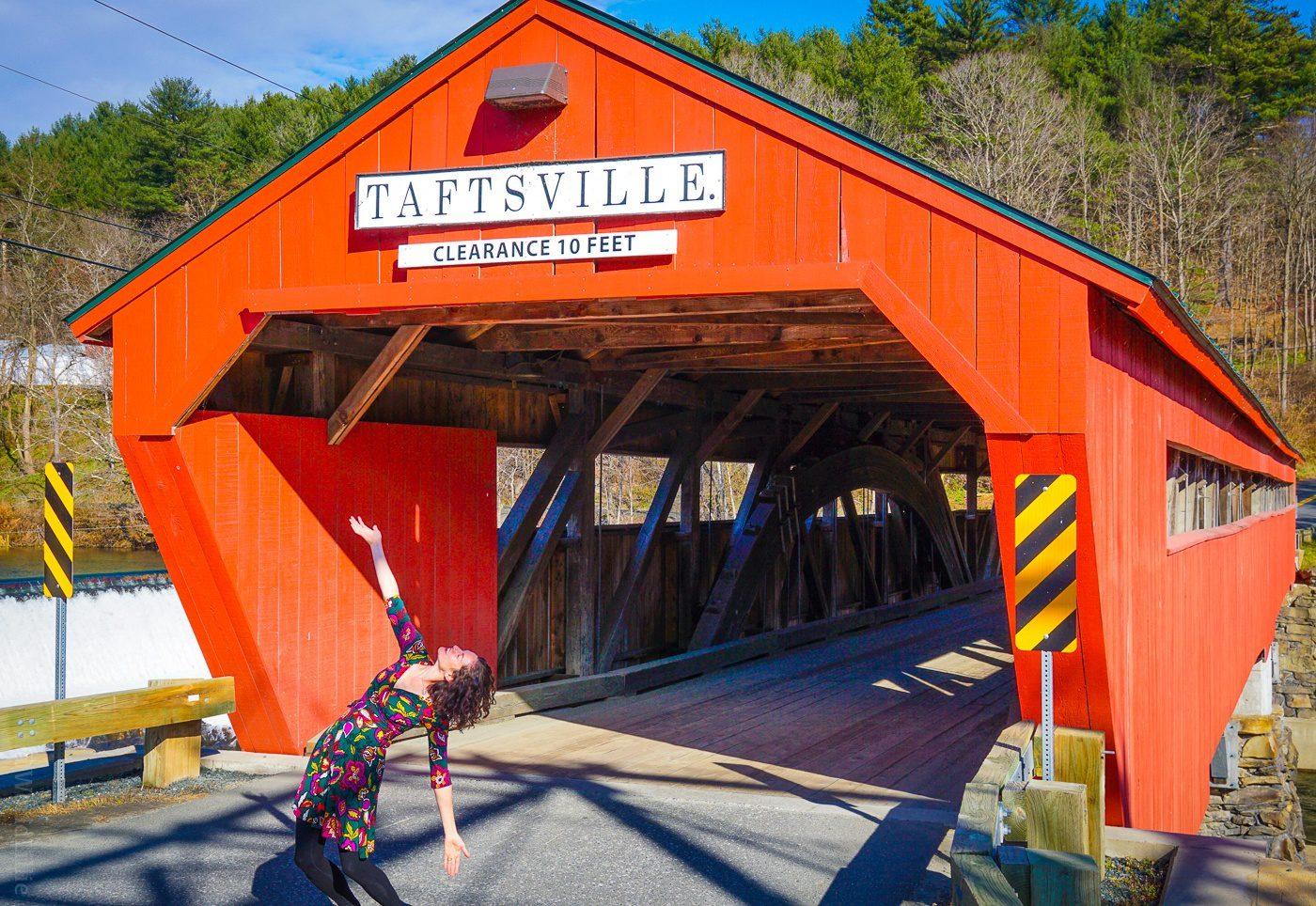 Taftsville covered bridge near Woodstock, VT.