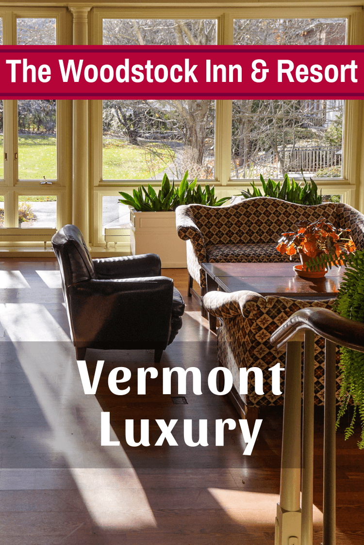 The Woodstock Inn and Resort, VT is Vermont luxury hotel greatness! Get ideas and tips on food, photos, activities nearby, and New England getaway goodness. #Vermont #luxurytravel #newengland #familytravel #couplestravel