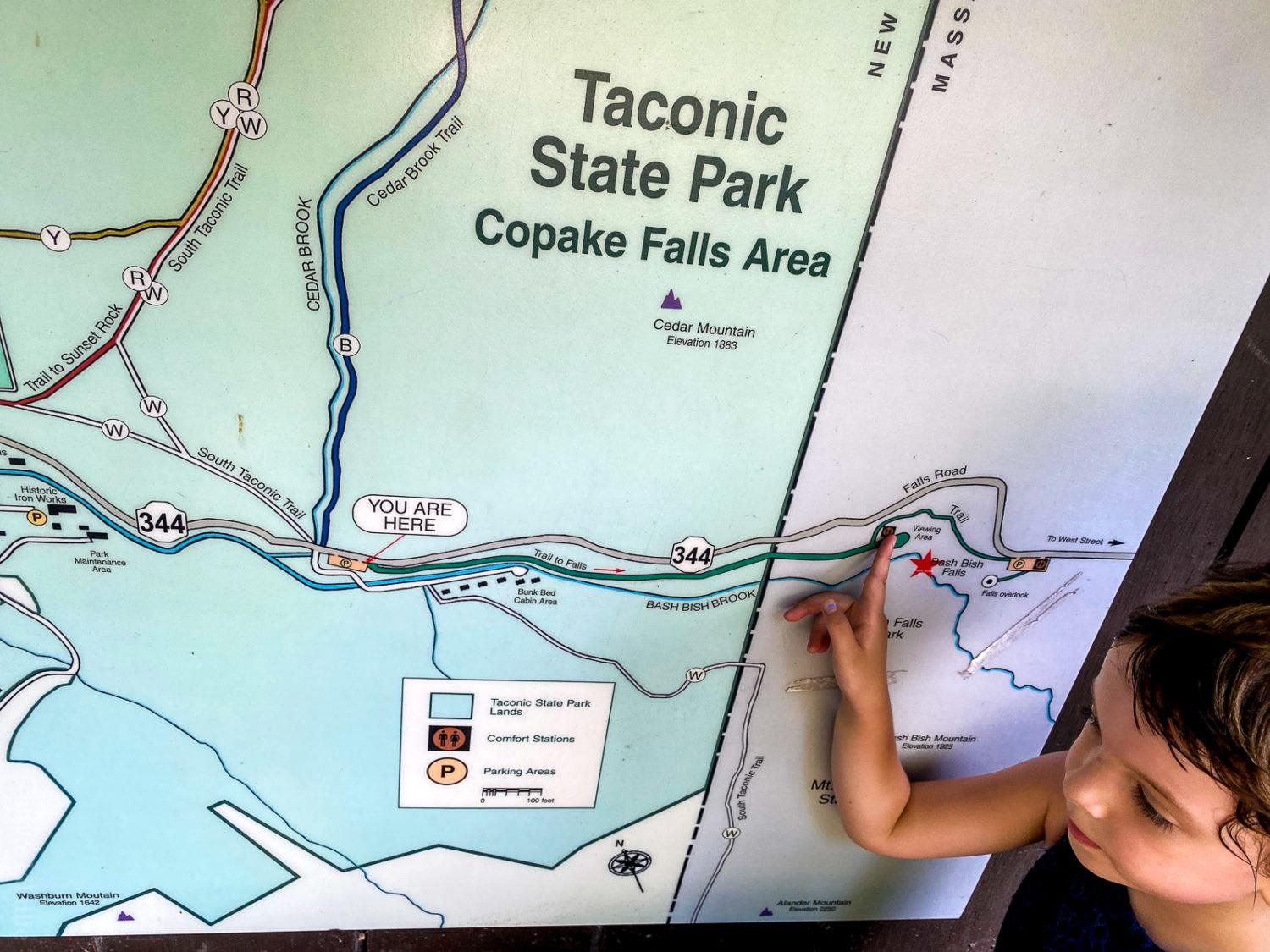 Map of Taconic State Park