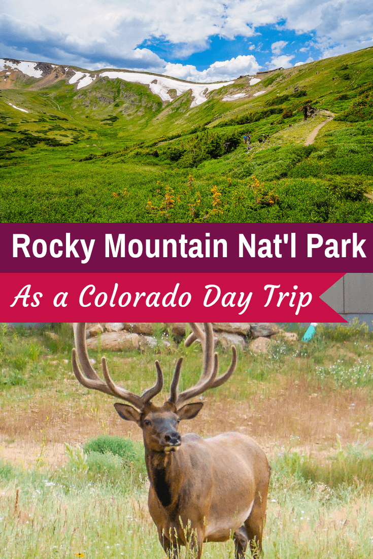 Visit Rocky Mountain National Park, CO! Tips on RMNP Colorado Mountains day trip itinerary by car: Trail Ridge Road, Alpine Visitor Center, & Sprague Lake hike. #colorado #rmnp #rockymountains #hiking #nationalparks